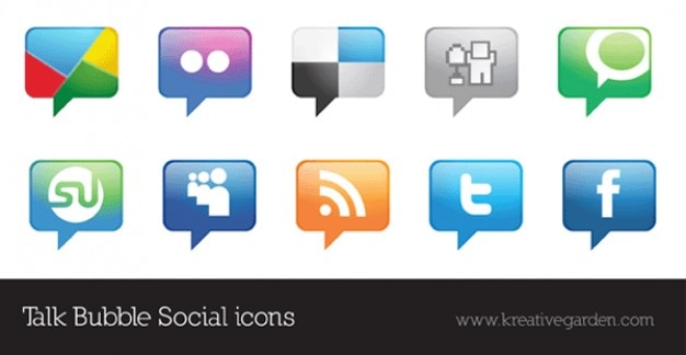 051 Talk Bubble Vector Social Icons Free Vector