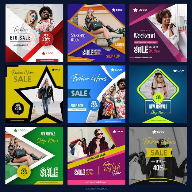 デジタルマーケティングのためのソーシャルメディアパック05 Premiumベクター