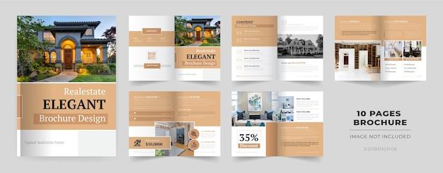 Modello di brochure di 10 pagine Vettore gratuito