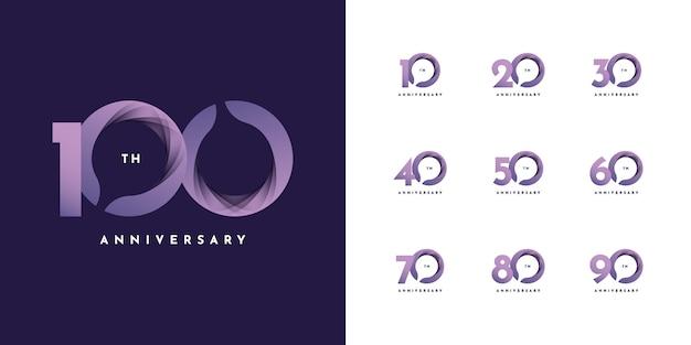 Лента от 10 до 100 лет Premium векторы