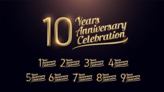 10 years anniversary celebration Premium Vector