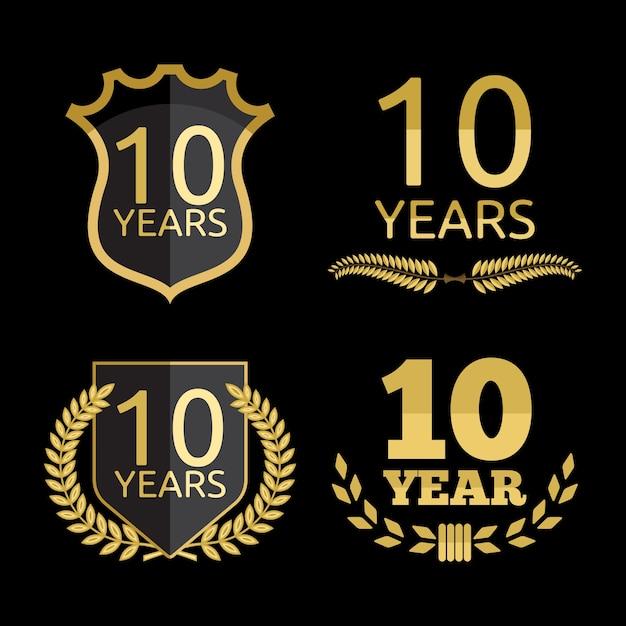 10 Years Anniversary Set Vector Premium Download