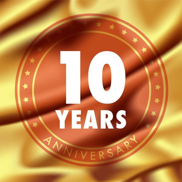 10 лет юбилей Premium векторы