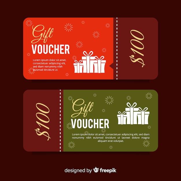 100$ gift voucher Free Vector
