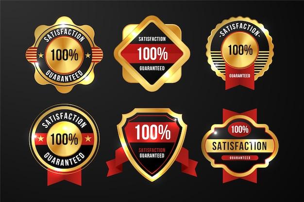 100% гарантия сбора значков Premium векторы