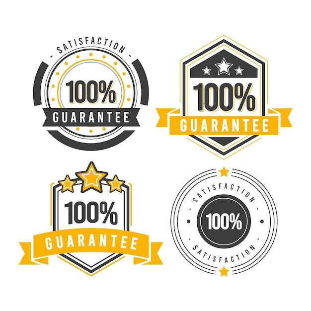 100%保証ラベルコレクション Premiumベクター