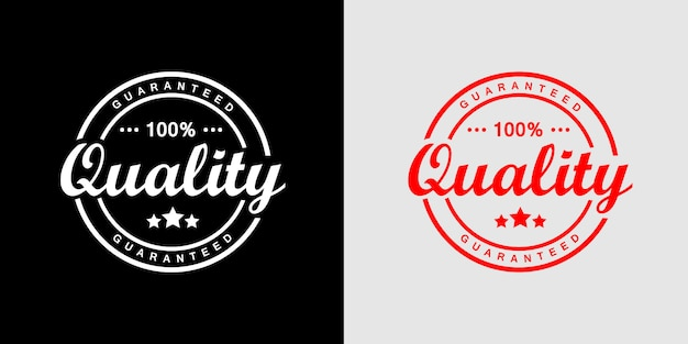Premium Vector | 100% guaranteed quality product stamp logo