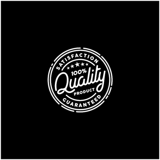 100 % 품질 보증 제품 스탬프 로고 프리미엄 벡터