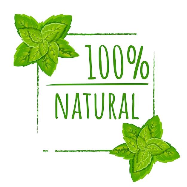 100 естественных логотипов. зеленая экологическая печать. цветной значок с листьями. плоский рисунок. изолированные на белом фоне. Premium векторы