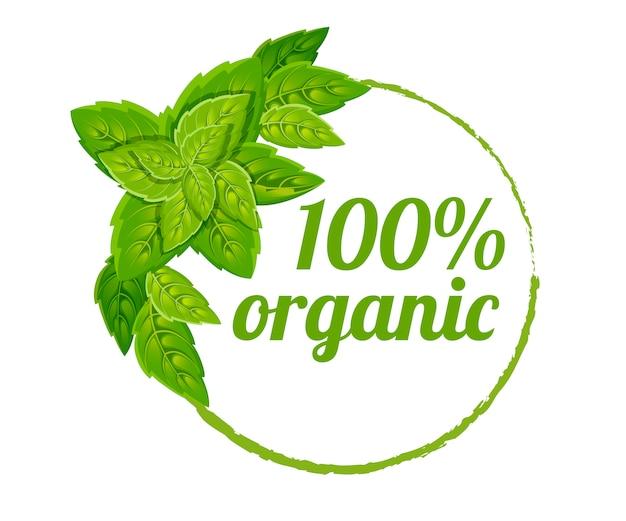 100 органических логотипов. зеленая экологическая печать. цветной значок с листьями. плоский рисунок. изолированные на белом фоне. Premium векторы