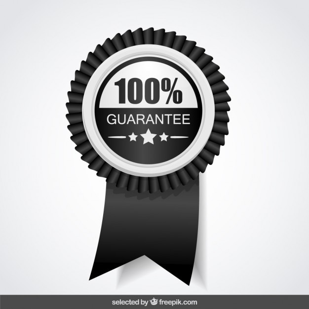 100 percent black and white guarantee vector free download