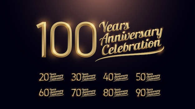 100 years anniversary celebration Premium Vector