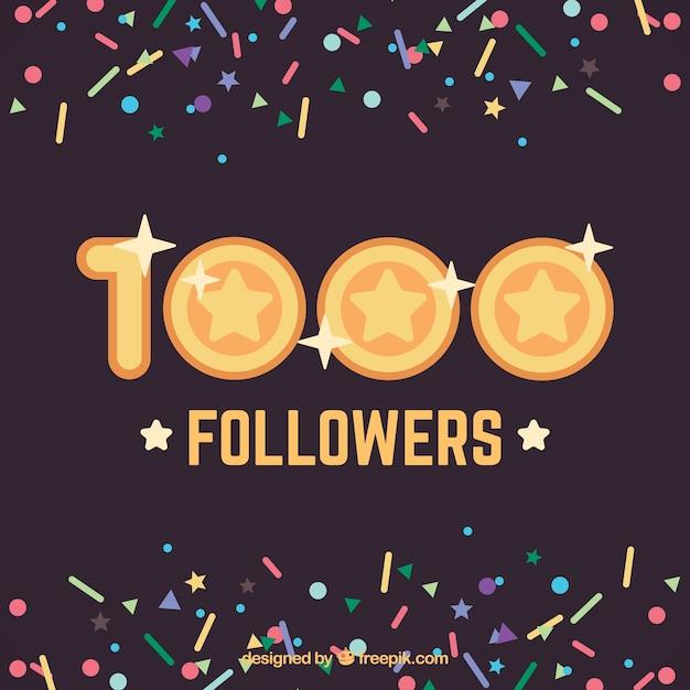 1000 followers background