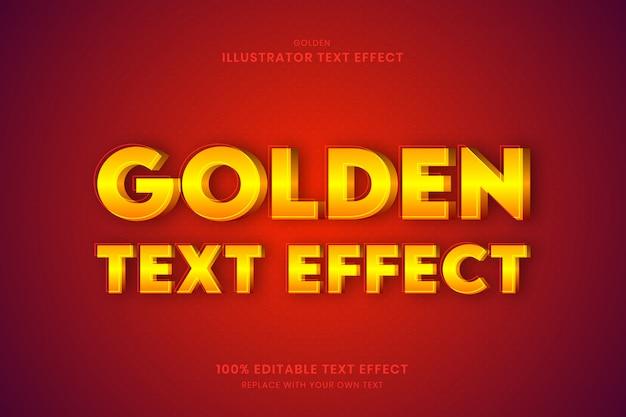 Золотой текстовый эффект 100% редактируемый текстовый эффект Premium векторы