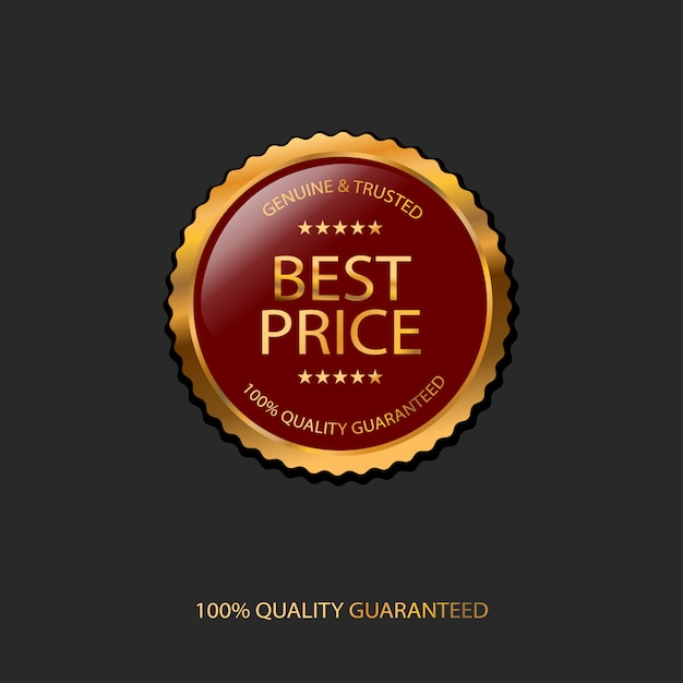 100% гарантированное качество, знак лучшей цены Premium векторы