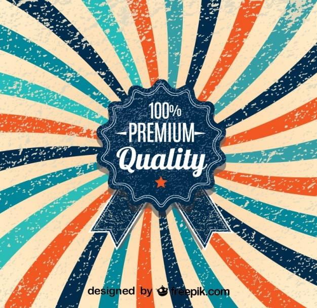 レトロサンバースト100%のプレミアム品質のポスターデザイン 無料ベクター