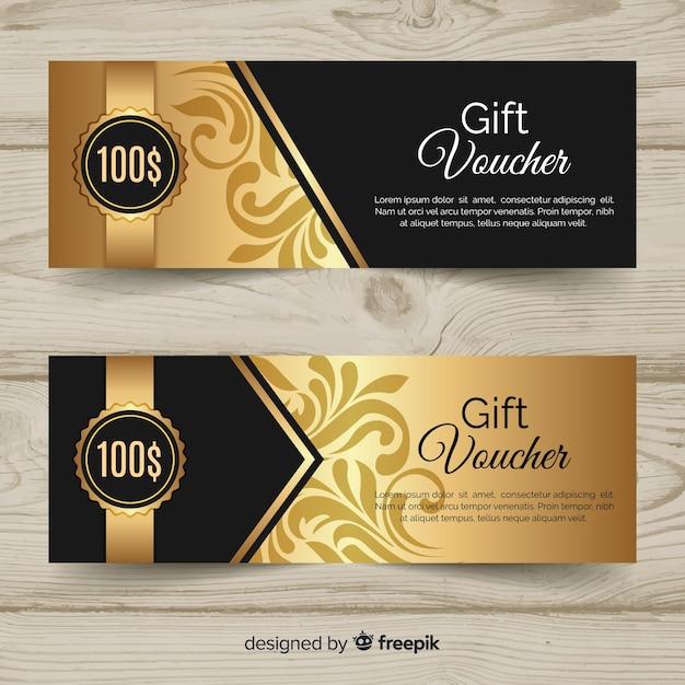 Подарочный ваучер 100 $ Бесплатные векторы