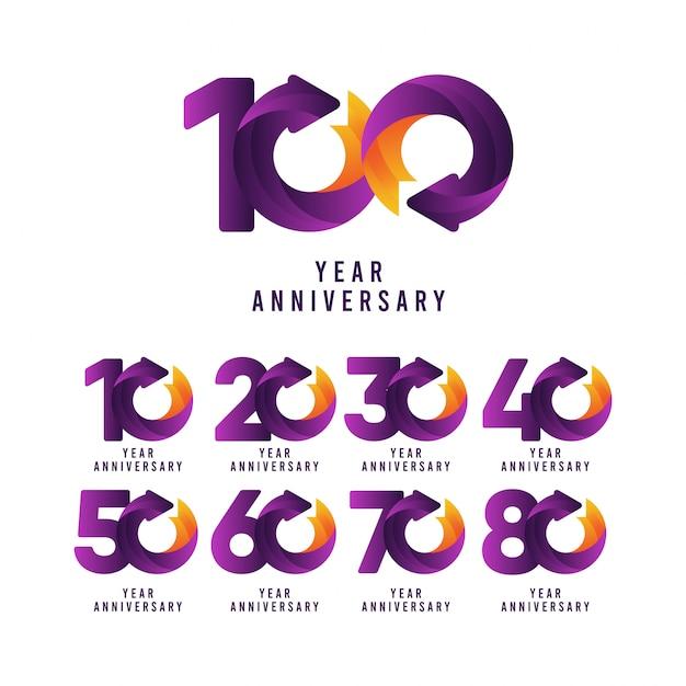 100 лет юбилейной коллекции Premium векторы