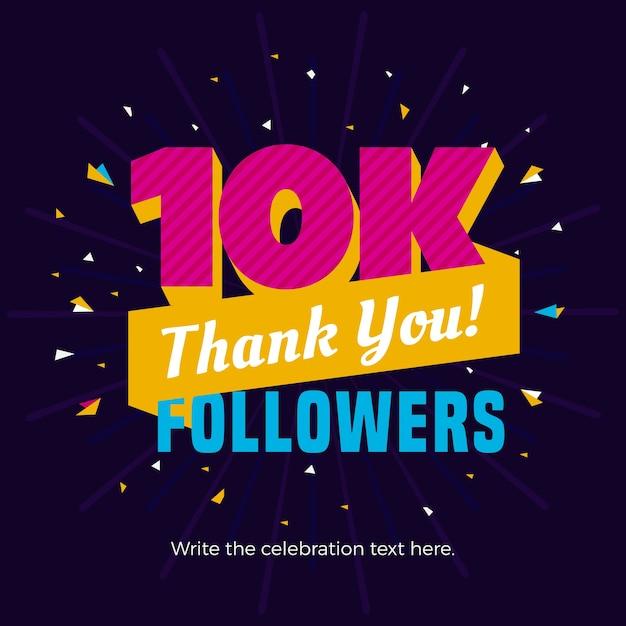10k Photography 10kphotography: 10k Followers Banner Vector