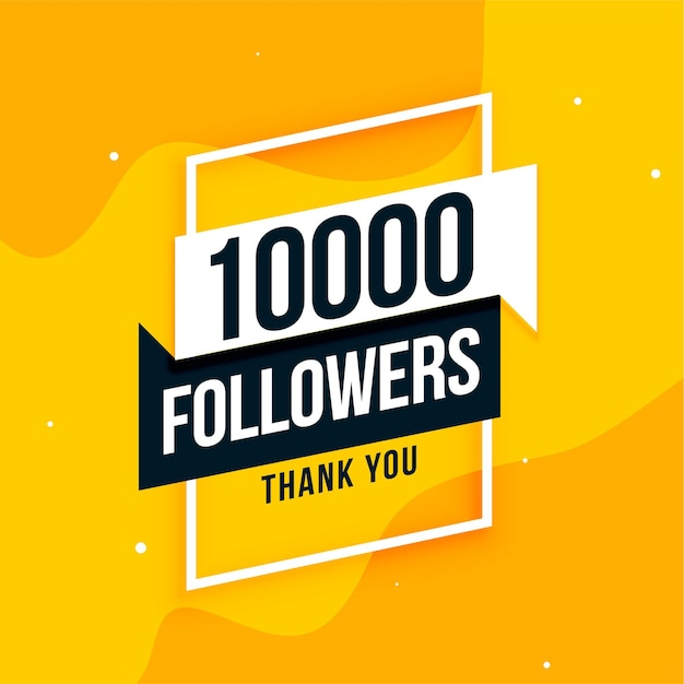 10k social media followers thank you post design Free Vector