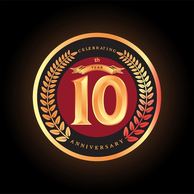 10th anniversary celebrating classic vector logo design ...