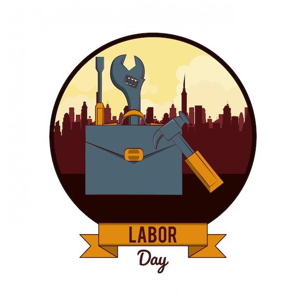 労働日は11月1日カード Premiumベクター