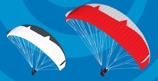 110 paraglide Free Vector
