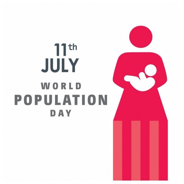 11th july world population day Free Vector
