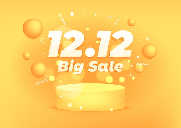 Premium Vector 12 12 Big Sale Discount Banner Template Promotion Design 12 12 Super Sales Online