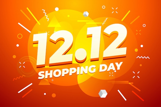 Premium Vector 12 12 Shopping Day Sale Poster Or Flyer Design
