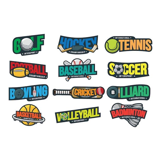 12 sport logo vector illustration Premium Vector