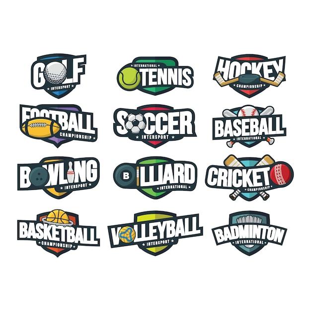12スポーツロゴのベクトル図 Premiumベクター