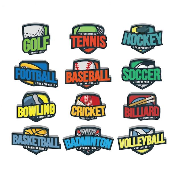 12スポーツロゴベクトル Premiumベクター