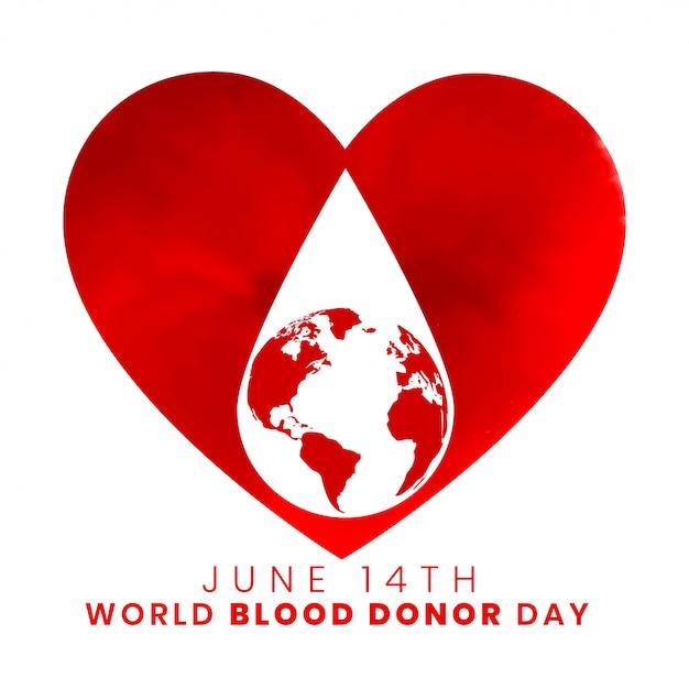 14 июня всемирный день донора крови дизайн фона Бесплатные векторы