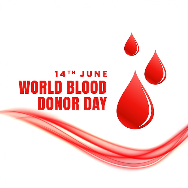 14th june world blood donor day concept poster Free Vector