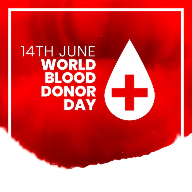 14th june world international blood donor day poster design Free Vector