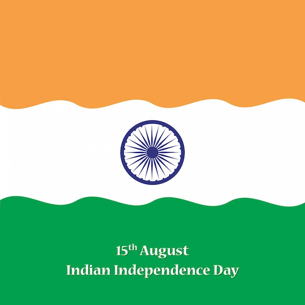 15th august happy independence day of india Premium Vector