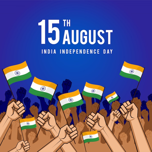 15th august independence day india flag Premium Vector