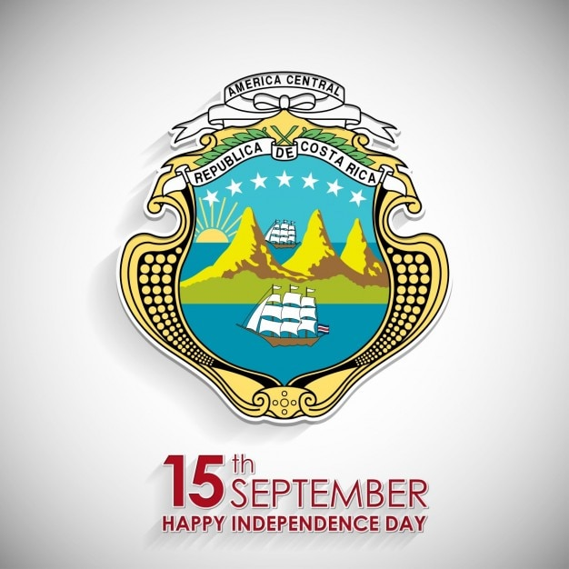 15th September Costa Rica National Day Symbol Vector Free Download