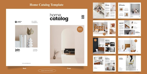 16 pages of home catalog brochure