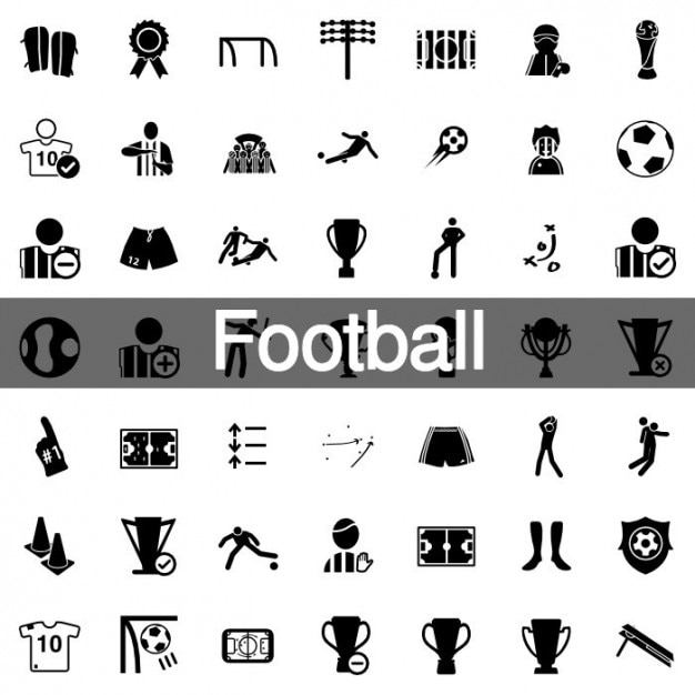 160 football icons pack vector