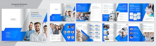 16-страничный шаблон корпоративного буклета Premium векторы