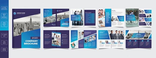 Профессиональный бизнес дизайн брошюры 16 страниц Premium векторы