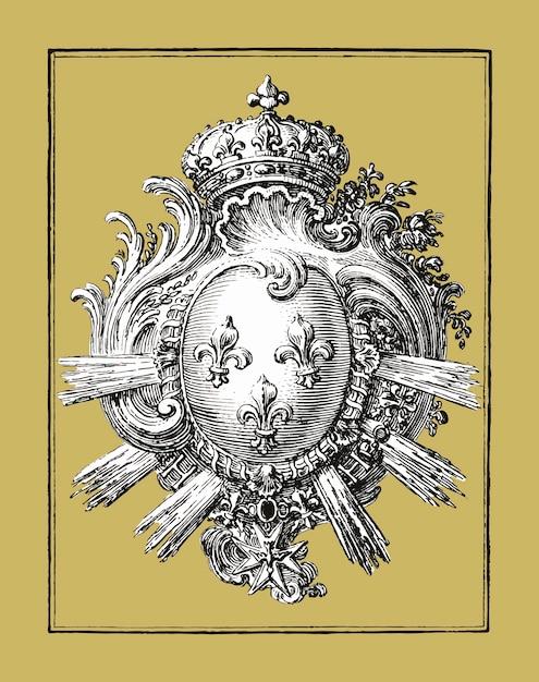 Рука с тремя лилиями (1785 - 1833) джин бернард Бесплатные векторы