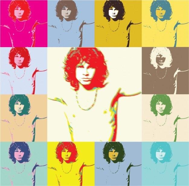 195 Pop Art Jim Morrison The Doors Poster Free Vector