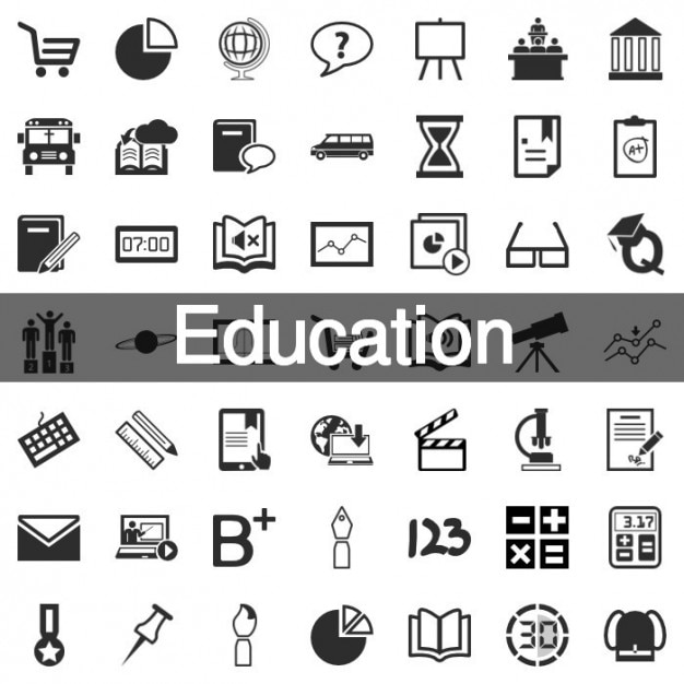 199 education icon set vector