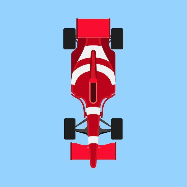 フォーミュラ1レースカースポーツアイコントップビュー。 Premiumベクター