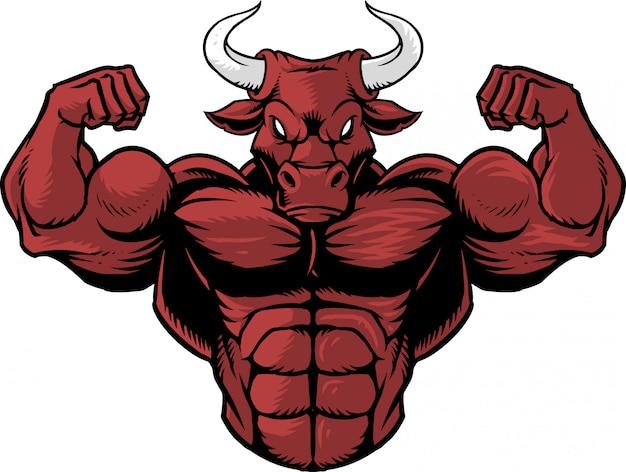 Сильный бык 1 Premium векторы