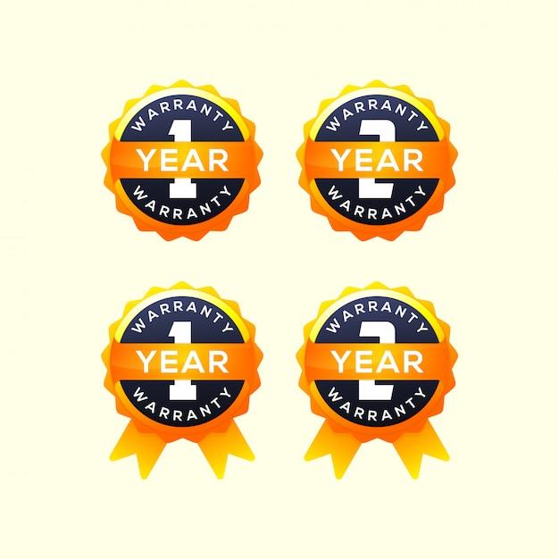 Коллекция 1 год гарантии Premium векторы