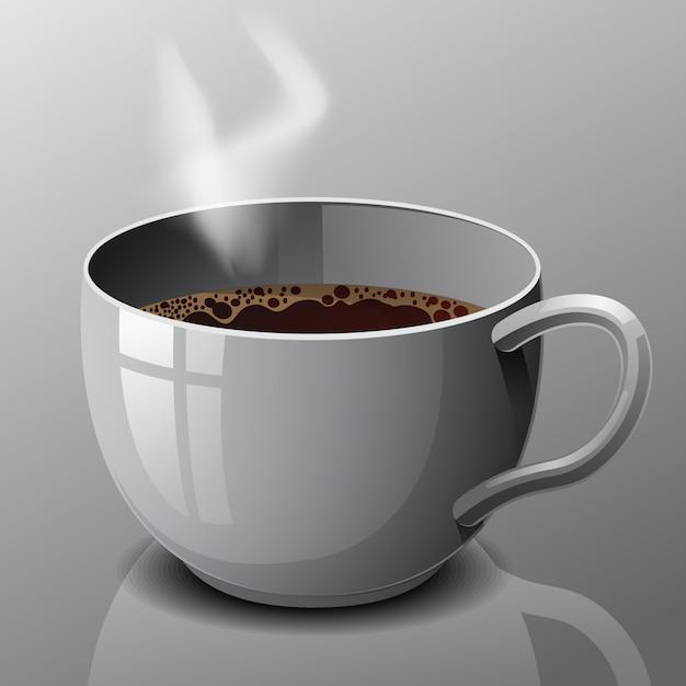 ベクトル分離コーヒー1杯。 Premiumベクター